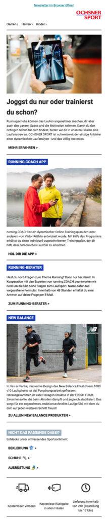 Ochsner Sport Newsletter