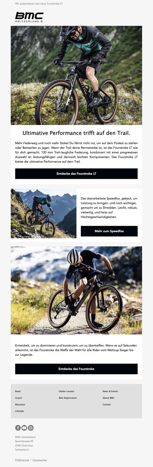 BMC Newsletter Template Beispiel