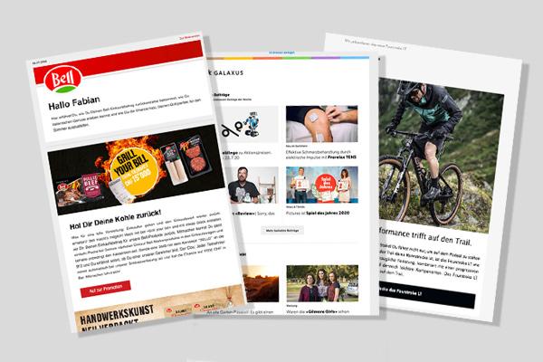 Fünf Newsletter Templates aus der Schweiz, Folge 2